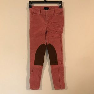 Ralph Lauren Sz 8 kids pink corduroy riding pant